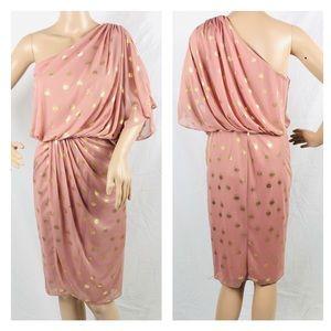 Liliana Women's Rose One Shoulder Dress